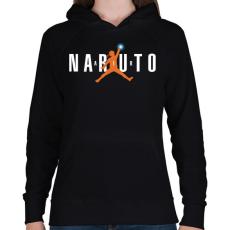 PRINTFASHION Naruto Air - Női kapucnis pulóver - Fekete