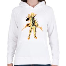 PRINTFASHION Naruto Kurama mód - Női kapucnis pulóver - Fehér