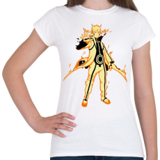 PRINTFASHION Naruto Kurama mód - Női póló - Fehér