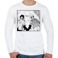 PRINTFASHION Naruto vs Sasuke - Férfi hosszú ujjú póló - Fehér férfi póló