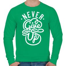 PRINTFASHION Ne add fel - Férfi pulóver - Zöld