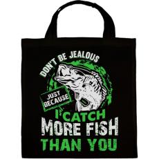 PRINTFASHION Ne légy irigy, amiért több halat fogok... - Vászontáska - Fekete