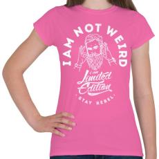 PRINTFASHION Nem vagyok furcsa - Női póló - Rózsaszín