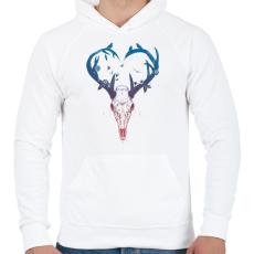 PRINTFASHION Neverending love - Férfi kapucnis pulóver - Fehér