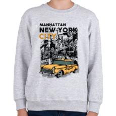 PRINTFASHION New York City - Gyerek pulóver - Sport szürke