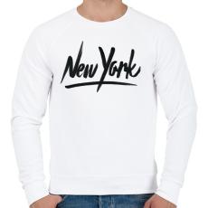 PRINTFASHION New York - Férfi pulóver - Fehér
