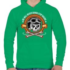 PRINTFASHION Nincs megállás - Férfi kapucnis pulóver - Zöld