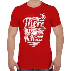 PRINTFASHION Nincsenek szabályok - Férfi póló - Piros