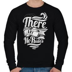 PRINTFASHION Nincsenek szabályok - Férfi pulóver - Fekete