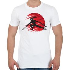 PRINTFASHION Ninja - Férfi póló - Fehér