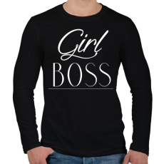 PRINTFASHION Női főnök - Férfi hosszú ujjú póló - Fekete