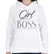 PRINTFASHION Női főnök - Női kapucnis pulóver - Fehér