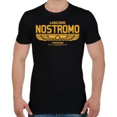 PRINTFASHION Nostromo  - Férfi póló - Fekete