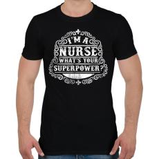 PRINTFASHION Nővér a szuperhatalom - Férfi póló - Fekete