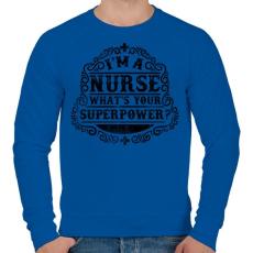 PRINTFASHION Nővér a szuperhatalom  - Férfi pulóver - Királykék