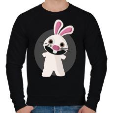 PRINTFASHION nyuszi - Férfi pulóver - Fekete