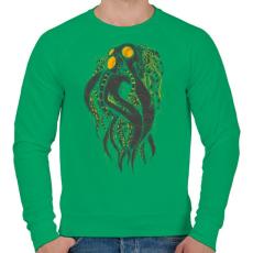PRINTFASHION Oktobot - Férfi pulóver - Zöld