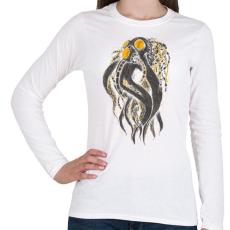 PRINTFASHION Oktobot - Női hosszú ujjú póló - Fehér
