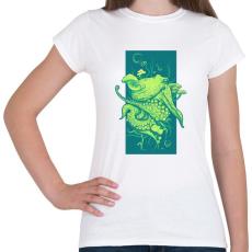 PRINTFASHION Oktopusz - Női póló - Fehér