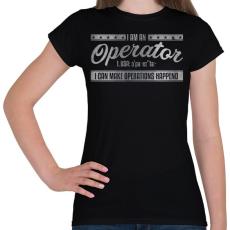 PRINTFASHION Operator - Női póló - Fekete