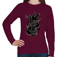 PRINTFASHION Ordíts a világba - Női pulóver - Bordó