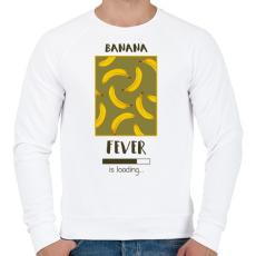 PRINTFASHION Örökké banán - Férfi pulóver - Fehér