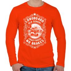 PRINTFASHION Őrült gördeszkás  - Férfi hosszú ujjú póló - Narancs