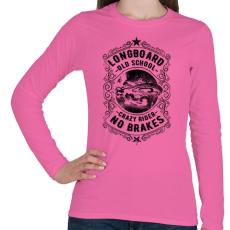 PRINTFASHION Őrült gördeszkás - Női hosszú ujjú póló - Rózsaszín