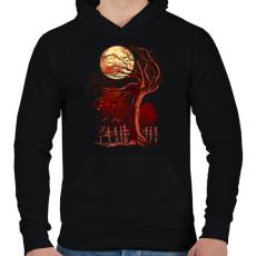 PRINTFASHION Ősök területe - Férfi kapucnis pulóver - Fekete