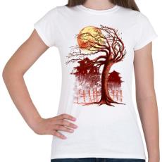 PRINTFASHION Ősök területe - Női póló - Fehér