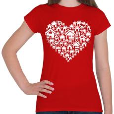 PRINTFASHION Otthon - Női póló - Piros