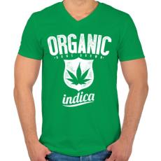 PRINTFASHION Otthoni termesztés - Férfi V-nyakú póló - Zöld