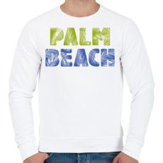 PRINTFASHION PALM BEACH - Férfi pulóver - Fehér