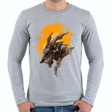 PRINTFASHION Páncélos sárkány - Férfi hosszú ujjú póló - Sport szürke