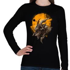 PRINTFASHION Páncélos sárkány - Női hosszú ujjú póló - Fekete