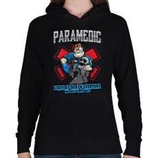 PRINTFASHION Paramedic - Női kapucnis pulóver - Fekete
