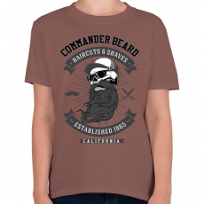 PRINTFASHION Parancsnoki szakáll - Gyerek póló - Mogyoróbarna