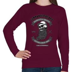 PRINTFASHION Parancsnoki szakáll - Női pulóver - Bordó