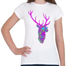 PRINTFASHION Party deer - Női póló - Fehér