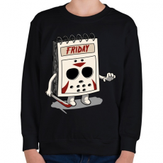 PRINTFASHION Péntek - Gyerek pulóver - Fekete