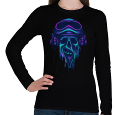 PRINTFASHION Pilóta zombi - Női hosszú ujjú póló - Fekete