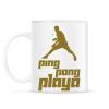 PRINTFASHION PingPongPlaya - Bögre - Fehér