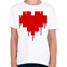 PRINTFASHION Pixel love - Gyerek póló - Fehér