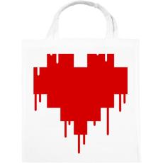 PRINTFASHION Pixel love - Vászontáska - Fehér