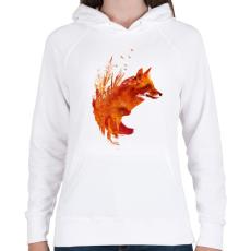 PRINTFASHION Plattensee fox - Női kapucnis pulóver - Fehér