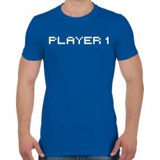 PRINTFASHION PLAYER 1 - Férfi póló - Királykék