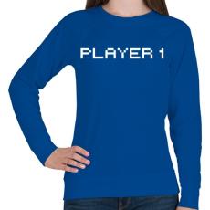 PRINTFASHION PLAYER 1 - Női pulóver - Királykék