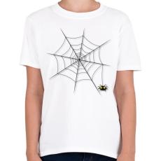 PRINTFASHION Pókháló - Gyerek póló - Fehér