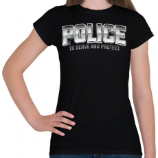 PRINTFASHION Police felirat - Női póló - Fekete