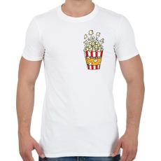 PRINTFASHION Popcorn zseb - Férfi póló - Fehér